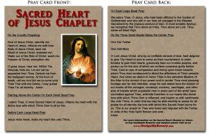 Sacred Heart Chaplet Prayer Card